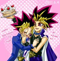 HAPPY BIRTHDAY TO YUGI by AZUMI-KO