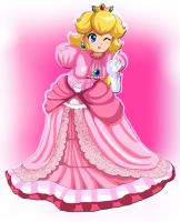 Princess Peach Taunting by freakybro7
