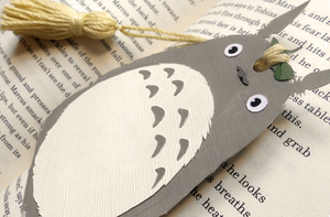 Totoro Papercraft Bookmark by koreandrawer
