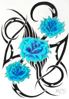 tribal roses by KatieConfusion