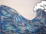 I Love Hokusai Wave by whye1