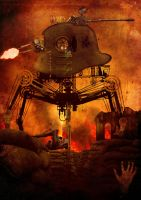 GERMAN STEAMPUNK TANK WW1 by OWENDP