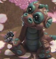 polymer clay dragon ooak cocoa by crazylittlecritters