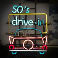 50s Drive In Neon Sign by DanaHaynes