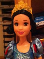 Close Up Of My 2012 Sparkling Snow White Doll by SweetHea