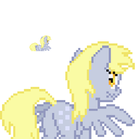 Derpy Hooves back sprite by fanofetcetera