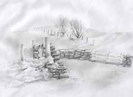 Pencil scape by madmax2002