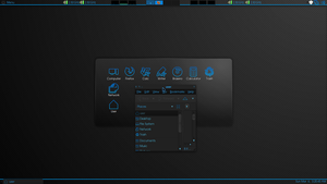Blue Neon Menu bar by MegaSasquatch