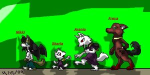 The Female Wolves by Vada-The-Darkfox