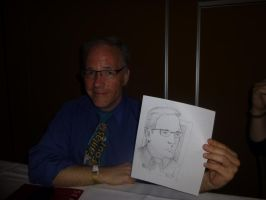 Tony at Crypticon holding Quick Drawing I by Poorartman