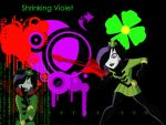 Shrinking Violet Background by Squireprincess