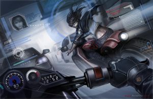Motorcycle Chase by ArtofTu