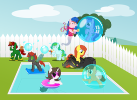 Delphina's pool party by BladeDragoon7575