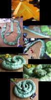 21 Feet long Nagini Plushie by Blashina
