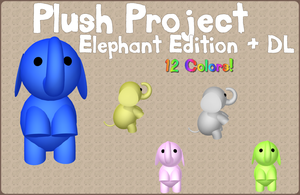 MMD - Plush Project - ELEPHANT + DL by RoseBeri