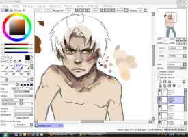 Romano WIP by emo-hippie