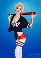 Baseball Player Pin-Up II by paradoxphotography