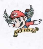 Super Mario tattoo design by And-all-that-jazz-x