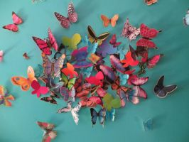 Paper Butterflies 2 by peaceloveandunicorns