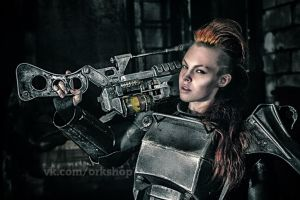Brotherhood of steel T-45d (Fallout 3) cosplay by TheTass