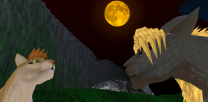 Against the Harvest Moon by MEWillow