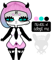 [ADOPTABLE] Nu Doll #1 [CLOSED] by GrimmBunny