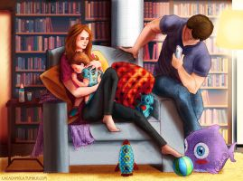 Castle, Beckett and a Baby III by Lizeeeee