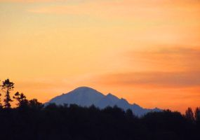 Mt Baker in the dawn light II by SkyfireDragon