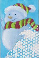 Holiday Snowman by WindDrifter