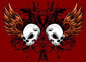 Colored Skull Design by That-One-Midget