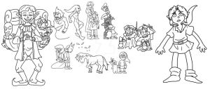 MM Characters by LittleGreenHat