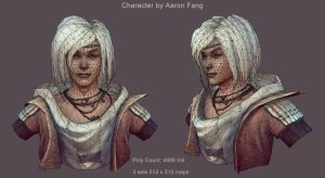 Character Model Wireframe by aaronfang-art