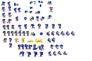 Female sonic sprites 2.5 by mechaelite