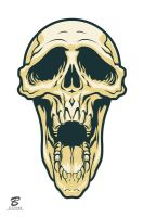 Skull sticker by Cloxboy