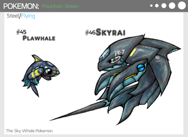 Fountain Green :Plawhale and Skyrai by KyuubiNight