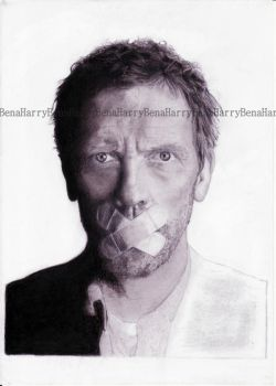 HughLaurie9WIP by BenavolutionArt