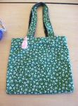 Toad and Lilypad Tote bag With Pink Tassel Accent by Spider-Spindle