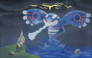 Willpower vs. Kyogre by VirtualManectric