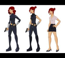 Black Widow animated costume designs 3 by tarunbanned