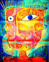 orange masks by stuckyart