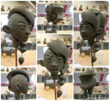 Ranger head sculpt by DawnKestrel