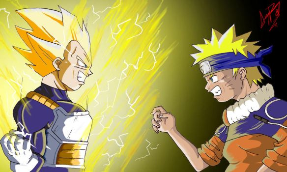Vegeta vs Naruto by Master-Angel