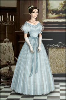 Victoria's blue dress by Arrelline