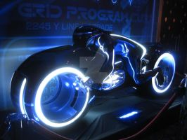 Tron Light Cycle Side View by ShipperTrish