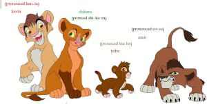 all of kovu and kiaras cubs by spyrokim123456