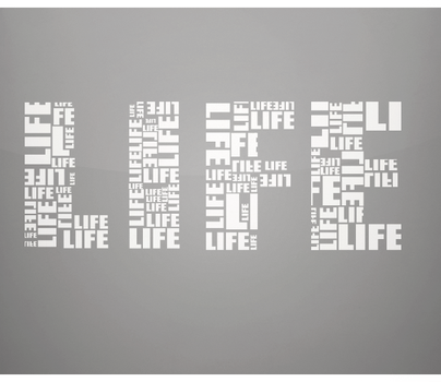 LIFE Typography by sNakyGFX