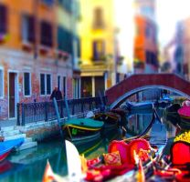 Rainbow colors in Venice by marjol3in1977