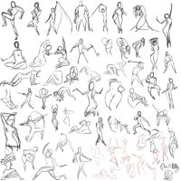 60 30 second gesture drawings by slyshand