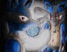 Lucario by Dogwhitesector