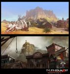 rattle snake village by TylerEdlinArt